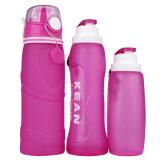 5 цветов подгоняли складную бутылку воды Широк-Рта напольного спорта