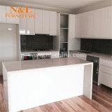 N & L 2017 Mobiliário de cozinha moderno Armário de cozinha de folheado de madeira