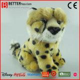 Brinquedo macio da chita realística do animal enchido do leopardo do luxuoso En71