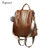 Women's Conception simple PU Sac à dos en cuir pour dames Daypack