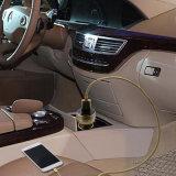 도매 LED 스크린 금속 이중 USB는 차 충전기를 향한다