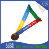 Kundenspezifisches Medaillen-Farbband mit Medaille für Konkurrenz