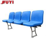 Chongqing Juyi 경기장을 접히는 빨간 축구 플라스틱은 도매 파란 시트 알루미늄 옥외 체조 의자를 착석시킨다