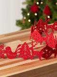 Ornamentos hechos a mano coloreados del fieltro de los ornamentos de la decoración de la bola de la Navidad pequeños