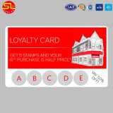 Cartão plástico padrão da lealdade do tamanho RFID