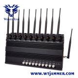 10 полос регулируемых весь Jammer сигнала WiFi GPS Lojack мобильного телефона GSM CDMA 3G 4G