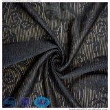 Poliester Jacquard tejido Spandex 120gsm Imiate sexy traje de tela de encaje para la ropa interior