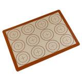 Couvre-tapis personnalisé réutilisable de traitement au four de silicium non de bâton approuvé par le FDA pour la pizza