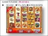 Plataea-50 lijn - Super Respin  Het Gokken van de Machine van het Spel van de Machine van het Spel van de groef Muntstuk In werking gestelde Machine