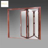 Ultimo portello di piegatura di vetro della lega di alluminio della parte anteriore di disegni