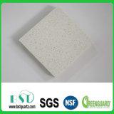 Surface solide de quartz de feuille blanche de pierre pour le dessus de vanité