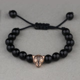 Monili Msbb024 del braccialetto di fascino della testa del leopardo del branello dell'agata del Matt