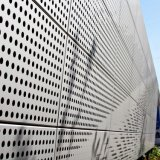 Architecturale Voorzijde van de Bekleding van de Gordijngevel van de Comités van de Besnoeiing PVDF van de laser de Aluminium Geperforeerde