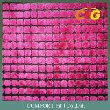 Tela contemporánea del terciopelo de la pila del corte de la viscosa del poliester de la tela de tapicería