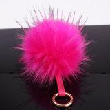 Cappello del Beanie del supporto di tasto della sfera della pelliccia della decorazione con la sfera superiore Poms