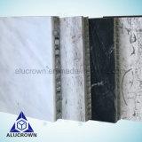 白いカラー大理石の/Graniteのテーブルの上および台所装飾のための石造りアルミニウム蜜蜂の巣のパネル