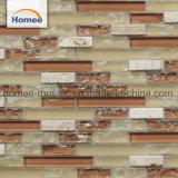 얼음 Crack 다채로운 불규칙한 Backplash 부엌 벽을%s 선형 유리제 모자이크 타일