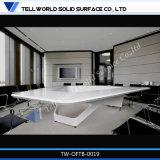 Heißer Verkaufs-Konferenzzimmer-Schreibtisch-runder weißer Acrylsteinversammlungstisch mit Fächern für Hotel