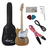 Завод производит твердые дешевые теле электрическая гитара