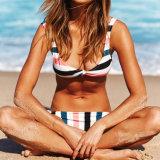 Mädchen-Badebekleidungs-Fotos des Streifen-Form-junger Badeanzug-reizvolle Bikini-Xxx