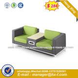 Vende caliente concisa un estilo moderno de la Oficina de cuero sofá (HX-8N0375)