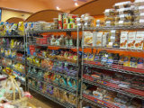 DIY工場6つの層のAdjustablechromeの金属の食料雑貨の表示棚付けラック