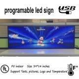 Textes d'intérieur de support de signe de pouces RVB DEL de P5 39X14, illustrations et vidéos courts