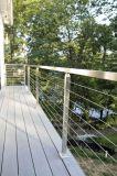 金属線の手すりのInoxの正方形のBalusterケーブルの柵のバルコニー