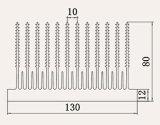 Profiel 6063 van de Uitdrijving van de Legering van het aluminium Heatsink voor de Transistors van de Macht