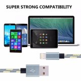 Iphon5/6/7/8를 위한 직물에 의하여 땋아지는 나일론 디자인 USB 번개 빨리 충전기 케이블