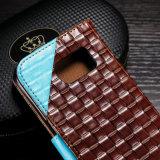 Caja del cuero de la cubierta del tirón para la galaxia S3/S4/S5 de Samsung