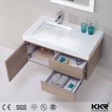 Moderne feste Oberflächenharz-Stein-Waschbecken-Badezimmer-Eitelkeit