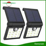 14 LED Lampe solaire jardin pliable monté sur un mur de sécurité de la lampe du capteur de rayons