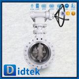 Vanne papillon manuelle de basse température d'essai de Didtek 100%