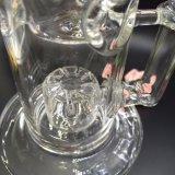 Conduites d'eau en verre dépliées par couleur claire de Perc de nid d'abeilles de collet fumant la conduite d'eau