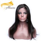 Gran peluca llena del cordón del pelo humano de la Virgen de la calidad de Alimina