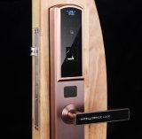Bloqueo de puerta elegante biométrico de la palabra de paso de la huella digital de la aleación del cinc con el explorador de la huella digital