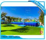 De reus past het Zwembad van de Pool van het Frame van het Metaal van het Park van het Water met de Pomp van het Water aan