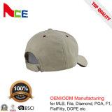 100%年のスエードファブリック6パネルの平らな刺繍の夏の帽子の野球帽