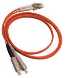 Cordons de connexion de fibre optique à plusieurs modes de fonctionnement d'Om2 Duleplex