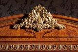 0062-1 conjunto de dormitorio de madera redondo clásico de Bedboard de la habitación de la casa real de Italia