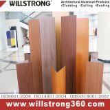 Panneau composé en aluminium de couleur en bois de noix de couche de PVDF