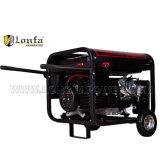 Eléctrica de alta calidad 230V 6kw Generador Gasolina 190f con asas y ruedas