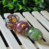 Tubo colorido de la mano del tornillo del tubo del tubo que fuma del tubo de cristal de la cuchara