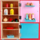 木の子供のシミュレーションの台所小型冷却装置演劇の一定の子供の教育おもちゃ