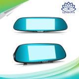 """7 """" leva auto llena dual de la rociada del video HD 1080P del androide 5.0 del espejo de Rearview de la lente de la cámara DVR GPS Bluetooth del coche 3G"""