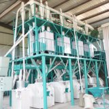 アフリカのトウモロコシの製粉のトウモロコシの小麦粉機械を実行する50トン