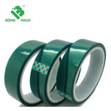 Grünes selbsthaftendes Kreppband-Polyester-Hochtemperatursilikon-Klebstreifen