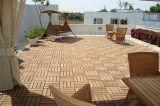 Il composto di plastica di legno alla moda di DIY copre di tegoli le mattonelle di pavimento di WPC