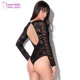 Commerce de gros d'usine Sexy femmes Lingerie Pure Mesh noir